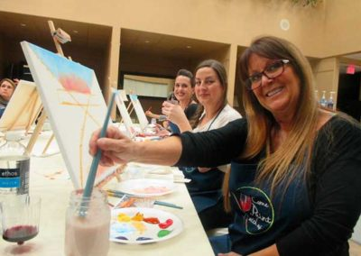 fun at one of our painting and wine classes