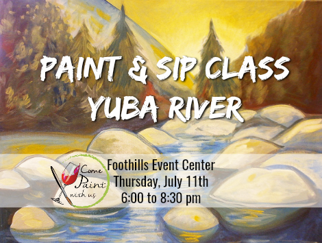 Yuba River paint and sip class